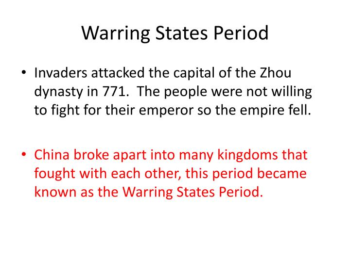Warring States Period