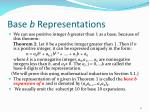 base b representations