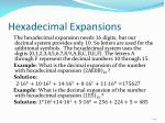 hexadecimal expansions
