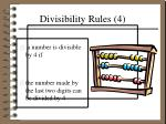 divisibility rules 4