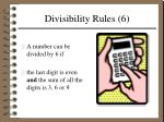 divisibility rules 6