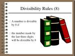 divisibility rules 8