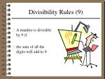 divisibility rules 9