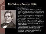 the wilmot proviso 1846