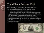 the wilmot proviso 18461