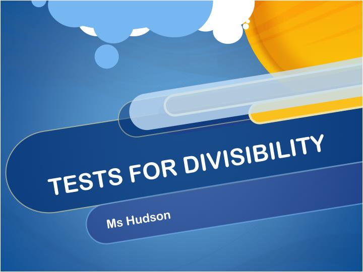 tests for divisibility n.