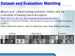 dataset and evaluation matching2
