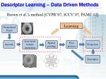 descriptor learning data driven methods