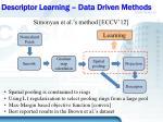 descriptor learning data driven methods2
