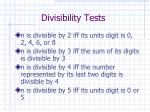 divisibility tests1