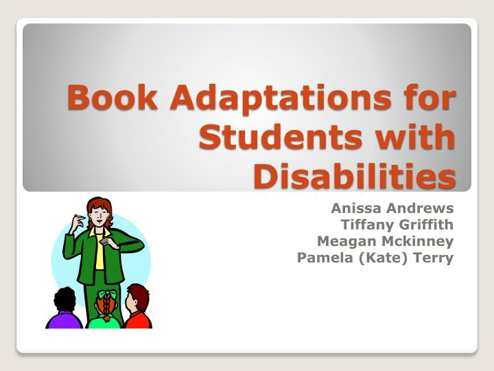 book adaptations for students with disabilities n.