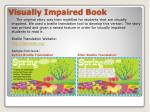 visually impaired book