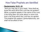 how false prophets are identified