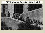101 st airborne escorts little rock 9
