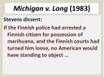 michigan v long 19832