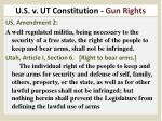 u s v ut constitution gun rights
