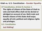 utah vs u s constitution gender equality
