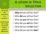 a lesson in voice inflection