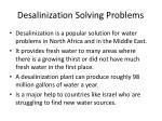 desalinization solving problems