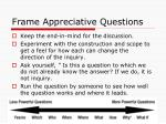 frame appreciative questions