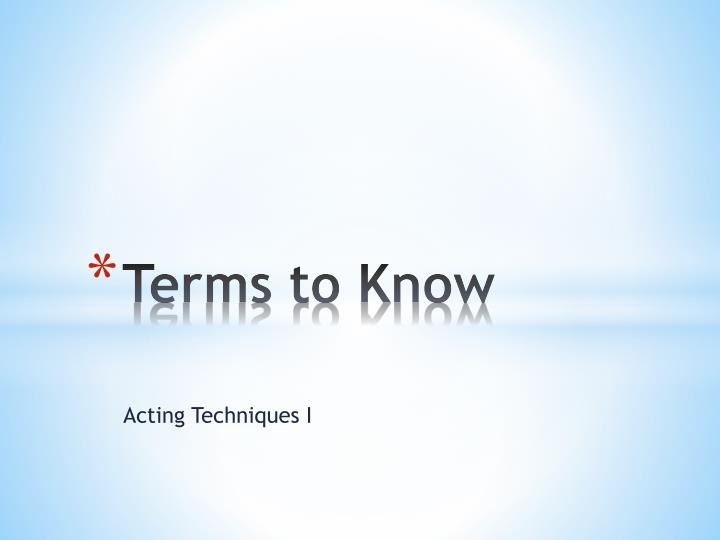 terms to know n.