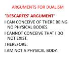 arguments for dualism