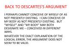 back to descartes s argument