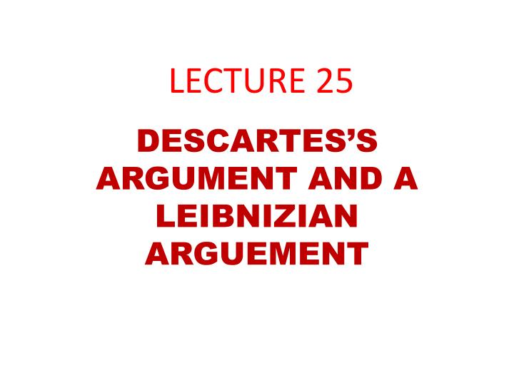 lecture 25 n.
