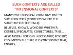such contexts are called intensional contexts
