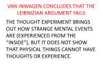 van inwagen concludes that the leibnizian argument fails