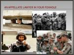 an appellate lawyer in your foxhole