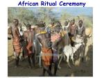 african ritual ceremony