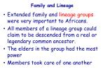 family and lineage