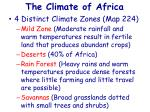 the climate of africa