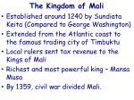 the kingdom of mali