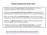 physics programme of the lhec