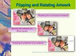 flipping and rotating artwork1