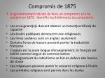 compromis de 1875