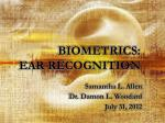 biometrics ear recognition