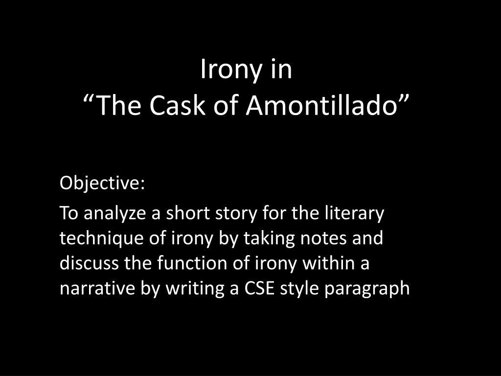 the cask of amontillado setting
