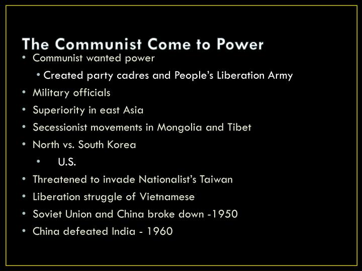 The Communist Come to Power