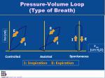 pressure volume loop type of breath