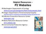 helpful resources p2 websites