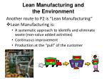 lean manufacturing and the environment