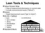 lean tools techniques