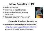 more benefits of p2
