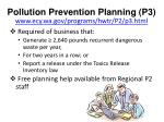 pollution prevention planning p3 www ecy wa gov programs hwtr p2 p3 html