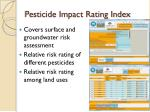 pesticide impact rating index