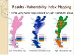 results vulnerability index mapping