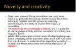 novelty and creativity